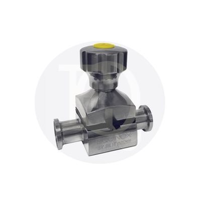 """Clamped mini type diaphragm 3 / 4"""" SS316 Stainless handle EPDM seat"""