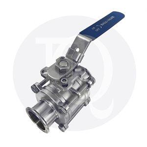 Ball valve 3 pieces cavity filled